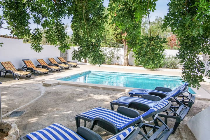 Vacation Home Sarola with Sea & Mountain View, Pool, Wi-Fi, A/C, Garden & Terrace; Parking Available