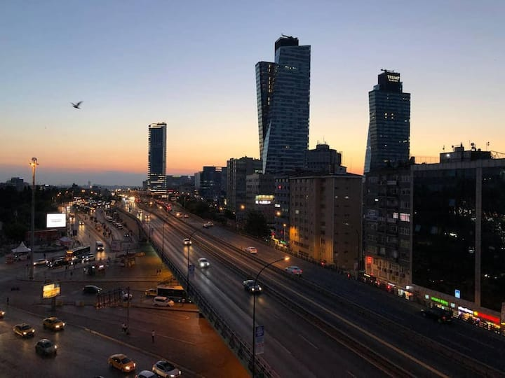 3 BR Apartment with Amazing City View Next to Cevahir Mall in Sisli