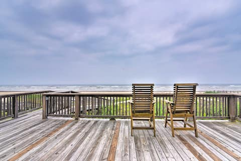 NEW! Large Beachfront Home with Private Boardwalk