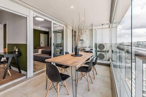 Apartamento sofisticado com vaga | Vila Olímpia