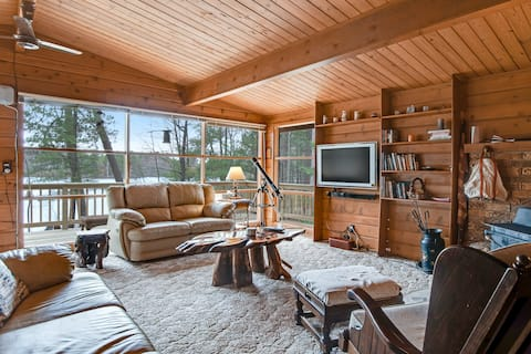 Secluded Lakefront House w/Free WiFi, Dock, Wood Fireplace, and Watersport Gear