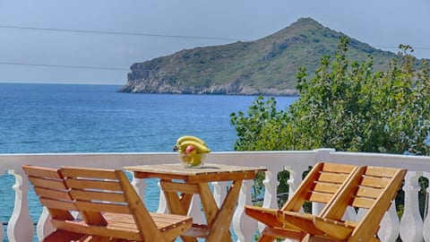 Arista Studio 7 - mit Meerblick und direkte Strandlage in Agios Georgios Pagon