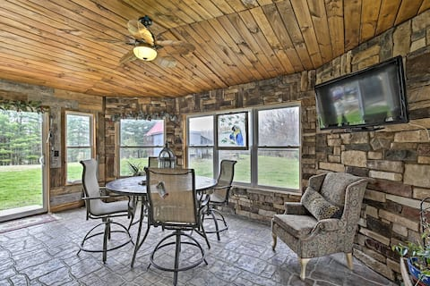 NEW! 4-Season Neillsville Home; Fire Pit by River!