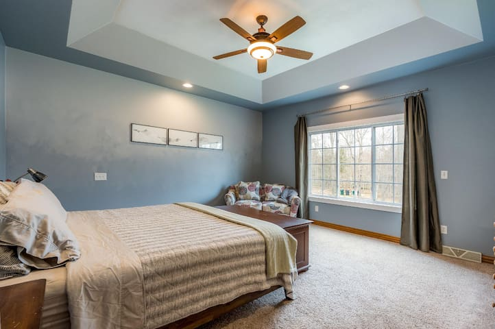 Spacious king master bedroom with full bath