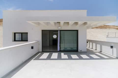 Olala Desert Shades Duplex with sunny terraces and sea view