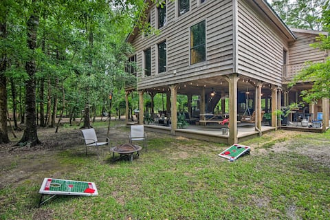 NEW! Idyllic Riverfront Cabin w/ Outdoor Oasis!