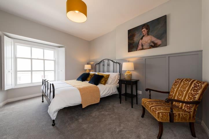 A comfortable bedroom.