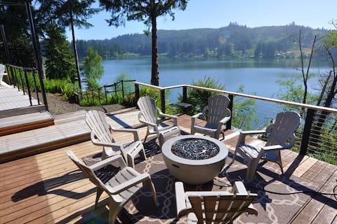 Ilmijiet Paċifiċi - Veduta Fabulous Lakefront ta 'Siltcoos Lake, Dock Privat, Jacuzzi, Kayaks, Gverti Multipli, Modern u Luxurious!