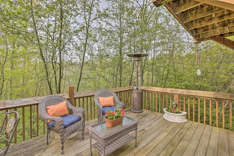 NEW! Resort Cabin w/ Fire Pit: Golf, Hike, & Play!