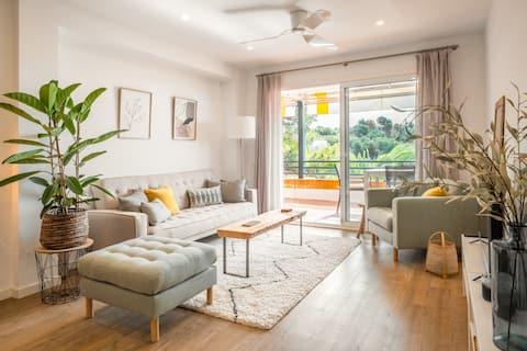 ⚡️AMAZING SEA VIEWS! ∙ Sitges Luxury Apartment with Balcony & Pool