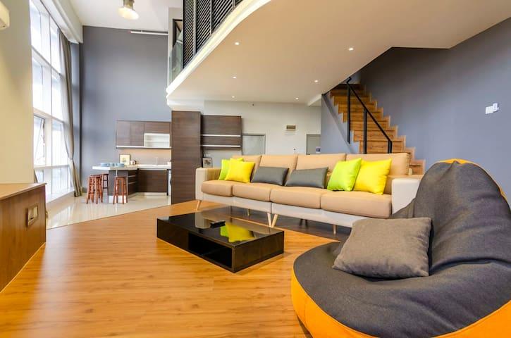 A spacious living area.