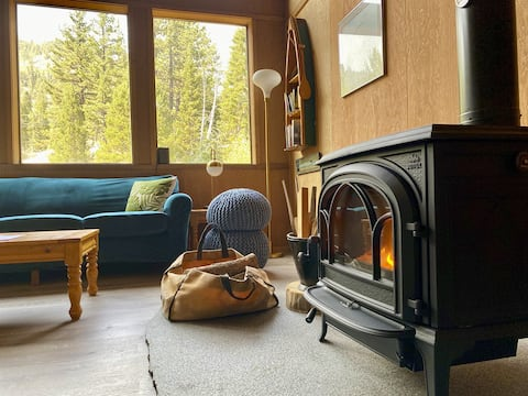 Woah! It's Bearadise! Our 20-person, creekside, '70s chalet is hella hygge