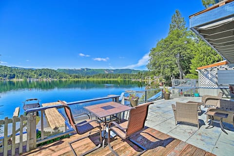 NEW! Dreamy Lakefront Home w/ Grill & Shared Dock!