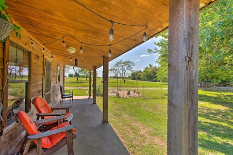 NEW! Collinsville Cabin on 130-Acre Horse Ranch!