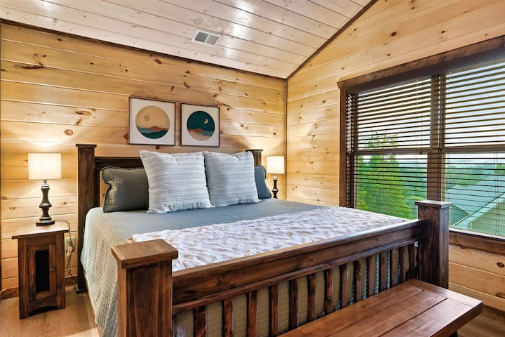 upstairs king bedroom w/ mountain view