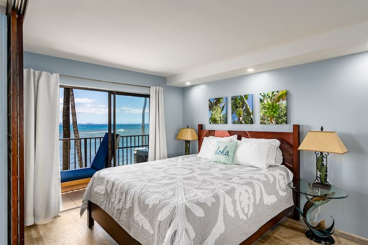 New king size bed to rest your weary body after a full day of Maui adventures