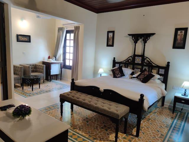 Luxury bedrooms.