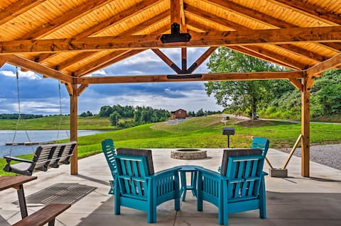 NEW! Newly Built Lakefront Escape w/ Private Dock!