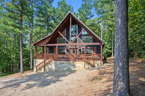 Evergreen R&R - A cozy couples cabin featuring a fire pit and hot tub.