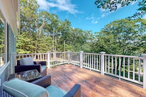Secluded, Single-Level Sanctuary w/ a Private Deck & Partial Ocean Views