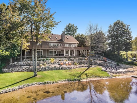 Stunning Lake House - 200' of Lakefront and Beach