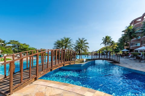 """Omar do Rio - GMO 1153/412: Duplex on the Ocean Side condo w/ Pool in front of the Beach, Internet 300mbps, Smart TV 72"""", Workstation, Garage, Sauna and Gym."""