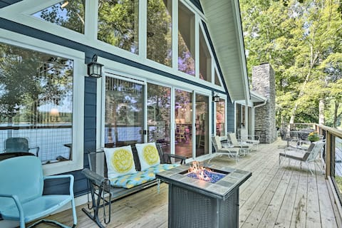 NEW! Renovated Lakeside Home w/ Private Boat Dock!