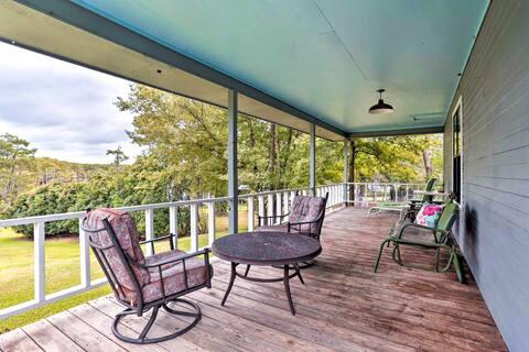 NEW! Doyline Cottage w/ Large Porch & Lake Access!