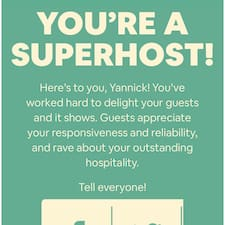 Yannick is a superhost.