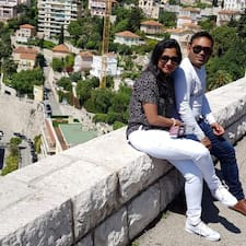 Saranya & Mohan felhasználói profilja