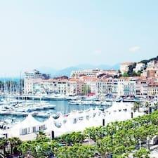 Cannes felhasználói profilja