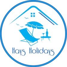 Hays Holidays felhasználói profilja