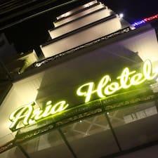 Aria Hotel felhasználói profilja