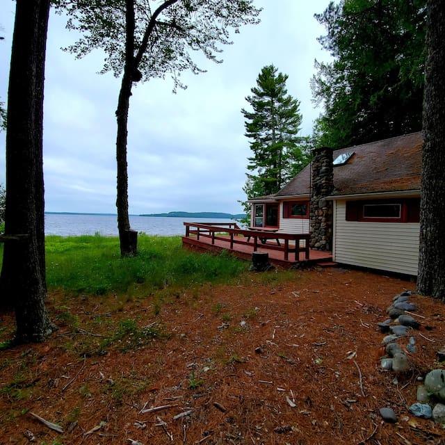 Maine Lake Cabin Area Entertainment