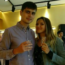 Iryna & is the host.
