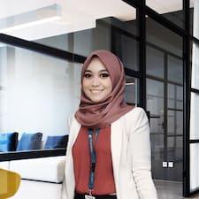 Shahirah felhasználói profilja