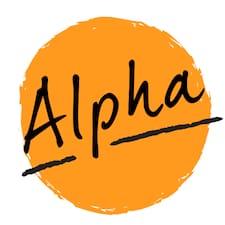 Henkilön Alpha käyttäjäprofiili