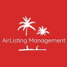 Henkilön AirListing Management käyttäjäprofiili