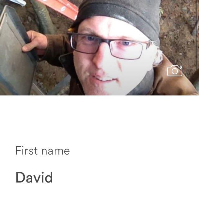 David的用戶個人資料