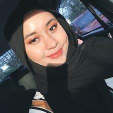 Adreena felhasználói profilja
