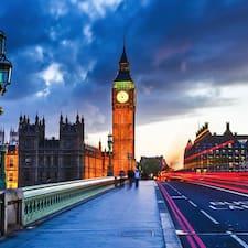 Henkilön London käyttäjäprofiili