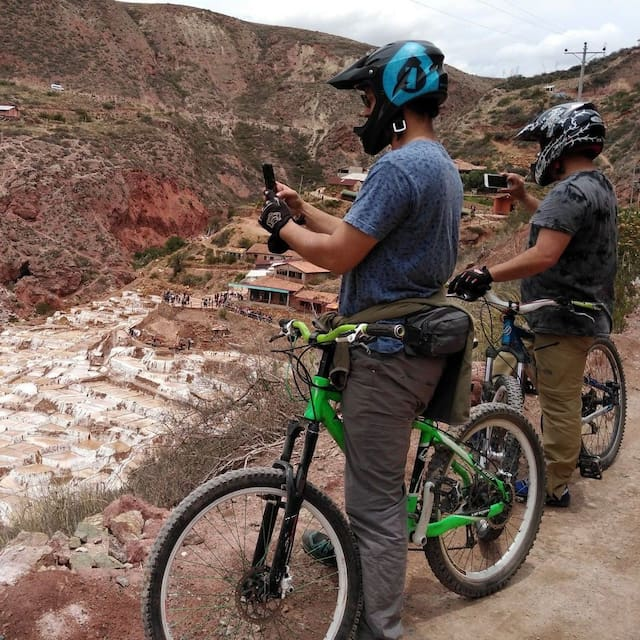 "TRAVEL PACKAGES BY MOUNTAIN BIKING RIDE.  ""FIXED TOURS OPEN DAILY WHOLE YEAR"" we offering fun and safe guiding SPORT tours, in family experience . Options: *option day 1-  Transfer our Tourist transportation where You need for any way roundtrip. to pick up You/drop off You. taxi from Cusco airport to Ollantaytambo. Price 130 soles by group 1/3 people.  *option day 2-  Mountain Biking Ride. (Moray/Salt Mines of Maras)  incluiding, whole bike equipmemt/guide/ transportation. price 190 dollars, by group 3/4 people. *option day 3 - Horse Riding around Ollantaytambo, with friendly horses and guide. price USD 45 dollars Per person.  *option day 4 - Historic/Cultural tours. Pisac Ruins/Pisac Market/ Moray/Salt Mines of Maras.  full day Start 9am end 4.30pm incluiding, Tourist transportation English Guíde price. USD 180 dollars, by group 1/4 people.  Politic to charge Is flexible. ""You may pay at get each tour up""                 Book us. henerinfante@hotmail.com Whatsapp 51 982320604"