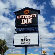 University Inn felhasználói profilja