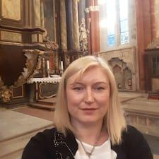 Irena felhasználói profilja