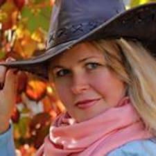 Jelena felhasználói profilja