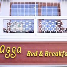 Agga is the host.