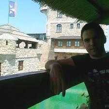 Aleksandar is the host.