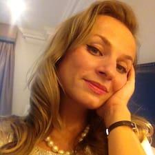 Irina ist der Gastgeber.