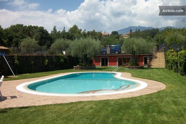 Etna house panoramic swimming pool in ragalna - Piscina acqua salata ...