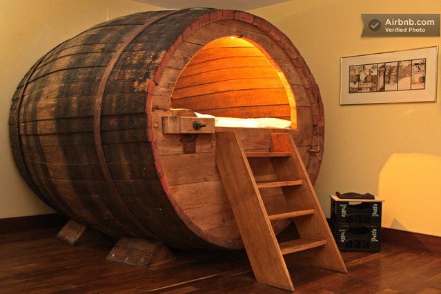 Beer Barrel Hotel Room in Germany